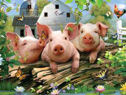 Three Little Pigs Farm Animals Jigsaw Puzzle